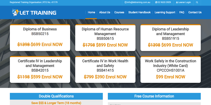 Let Training Online Courses